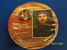 "Duck Dynasty Commander TV Camo Hunting Birthday Party 9"" Paper Dinner Plates"