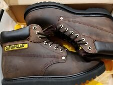 Men Caterpillar Second Shift Steel Toe Work Boot P77224 Dark Brown 100% Original