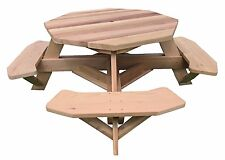 "49"" Octagon Top Western Red Cedar Picnic Table with Easy Seating"