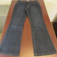 JEANSTAR Womens Elle Jeans 12x30 Dark Wash Curvy Flared Bootcut Indigo Stretch