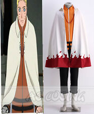 Anime Naruto Uzumaki Naruto 7th Hokage Cloak Cosplay Cape Halloween Cos Costume