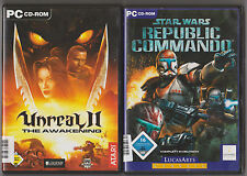 Star Wars Republic Commando Shooter + UNREAL 2 THE AWAKENING Collection Jeux PC