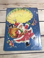 Vtg Saalfield #7098 Christmas Santa Parachutte Collectible Children's Puzzle