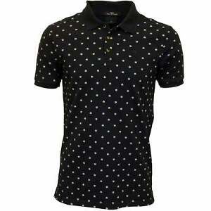 Scotch & Soda Classic Men's Polo Shirt with All-Over Geo Print, Navy