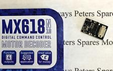 Zimo MX618 Mini DCC Decoder Next18 15x9.5x2.8mm 1.5A Peak 4 Func