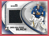 2011-12 Ben Bishop ITG In The Game Heroes & Prospects Rookie Jersey /100 - Stars