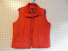 Womens Chaps winter vest - red - large