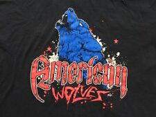 ROH American Wolves The Hunt is On T-Shirt 2XL XXL Davey Richards Eddie Edwards