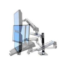 Ergotron LX Dual Stacking Arm (Polished Aluminum)