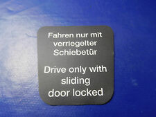 VW Bus descubrimos t2 t2a t2b pegatinas conducir sólo con cerrada puerta corredera schw.
