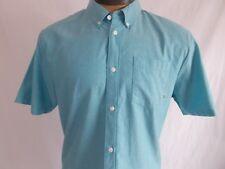 NWT VANS Herringster SHIRT Button Up ALGIERS BLUE Short Sleeve CASUAL   Mens XL