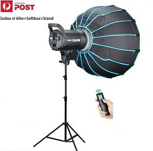 Godox SL-60W LED Light Kit + Softbox +Stand for Video Recording Outdoor Shooting