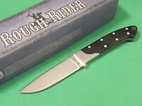 """ROUGH RIDER RR1009 Small Hunter Black wood full tang knife 6 7/8"""" overall NEW!"""
