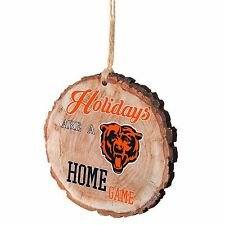 Chicago Bears Christmas Tree Holiday Ornament Stump - Holidays are a Home Game