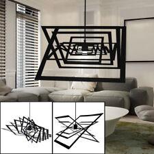 Suspension DEL luminaire plafond lustre métal noir lampe LED salle de séjour