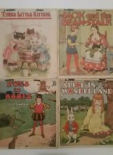 Vintage Books, Lot-4 Three little kittens Alice in Wonderland Jack -bean Puss bo