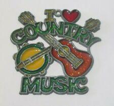 I Love Country Music Suncatcher (Musical Banjo Guitar Suncatchers)