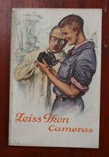 ZEISS 1927 CAMERA CATALOG, IN GERMAN FOR CZECHOSLOVAKIA/cks/208293