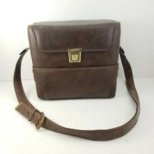 Vintage Diamond EL-77 Leather SLR Camera Brown Bag Case Made in USA