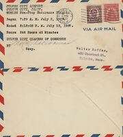 US 1929 AIR MAIL COVER WORLD RECORD NON STOP ENDURANCE FLIGHT