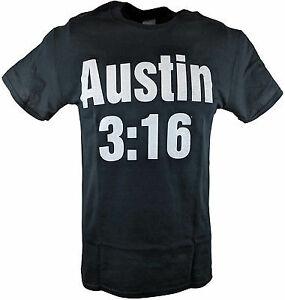 Stone Cold Steve Austin 3:16 White Skull WWE Mens T-shirt