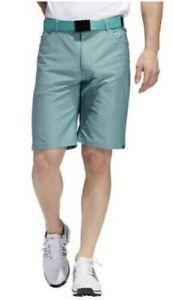 Adidas Ultimate365 Heather 5 Pocket Shorts -  Green - Choose Size
