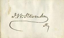 JOHN W. STEVENSON - SIGNATURE(S)