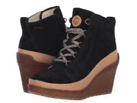 New Merrell Tremblant Wedge Lace Winter Boots 11 Eu 42.5  Black Suede Leather