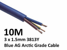 10M Arctic Blue 3183Y Flex Cable 3core x 1.5mm Outdoor Caravan Camping Artic