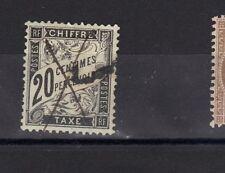 TAXE  DUVAL 1881-92 N°17 Oblitéré Signé Roumet  20 cts   NOIR  charniere stamp