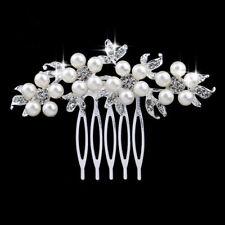 Haarkamm Blume Haargesteck Hochzeit Kammen Metall Braut Perlen Imität