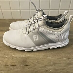FootJoy Mens Superlites Xp Dark Gray/light Gray Size 12W Wide Golf Shoes Cleats