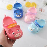 Summer Children Baby Boys Girls Pig Cartoon Beach Sandals Slippers Flip Shoes