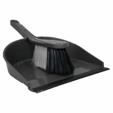 DUSTPAN & BRUSH SET SWEEPING PLASTIC SOFT BRISTLES HOME OFFICE HOUSEHOLD CLEANER