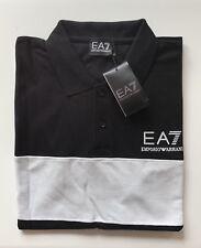 Mens Emporio Armani Polo T-shirts Short Sleeve Black Size XL RRR £115.00