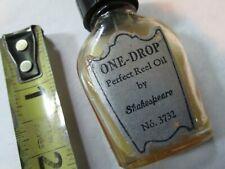 vintage SHAKESPEARE ONE-DROP reel oil bottle ,  fishing tackle,