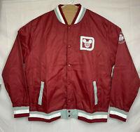 Walt Disney World 1971 Mickey Mouse Maroon/White Mens Button Up Jacket Size XL