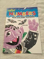 Sesame Street Numbers write and wipe workbook preschool homeschool math counting