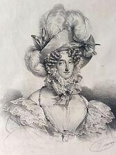Marie-Amélie Thérèse de Bourbon Reine des Français épouse de Louis Philippe XIXe