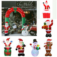 Christmas Inflatable Santa Claus Air Blown Holiday Yard Decoration LED Light