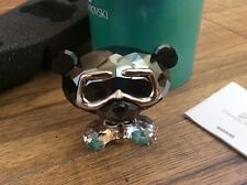 Swarovski Lovlots Bo Bear Heavy Metal Skull Rocker Sign 1143383 Brand New In Box