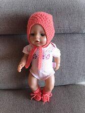 Puppen-Schuhe Schühchen; weiß m Zapf NEU Ankern; z.B Bayer Baby Born