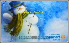 WALMART CHRISTMAS SNOWMAN WITH GREEN MAGIC SCARF #VL11440 COLLECTIBLE GIFT CARD