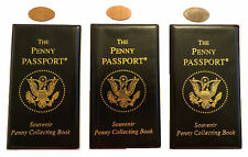 3-Pack Penny Passport Pressed Penny Album Book New PLUS Three Elongated Pennies