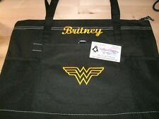 Wonder Woman Logo Sketch Personalized Tote Bag Wonder Woman Superhero Tote