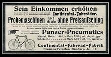 Alte Reklame 1902 Continental-Fahrrad-Fabrik Hermann Prenzlau Hamburg Fahrräder