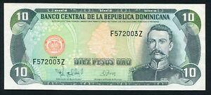 Dominican Republic 10 pesos oro 1998 Matías Ramón Mella P153 UNC Z Replacement