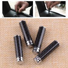 4Pcs Car Suv Universal Real Carbon Fiber Interior Door Lock Knobs Pins Handles