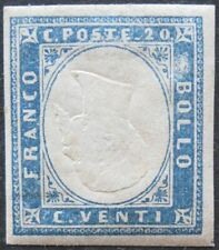 SARDINIA 1857-61 20c #15Cc VF-XF Inverted Head MH Mint Hinged Rare!!