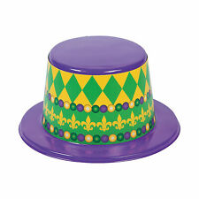 Mardi Gras Top Hats - Apparel Accessories - 12 Pieces